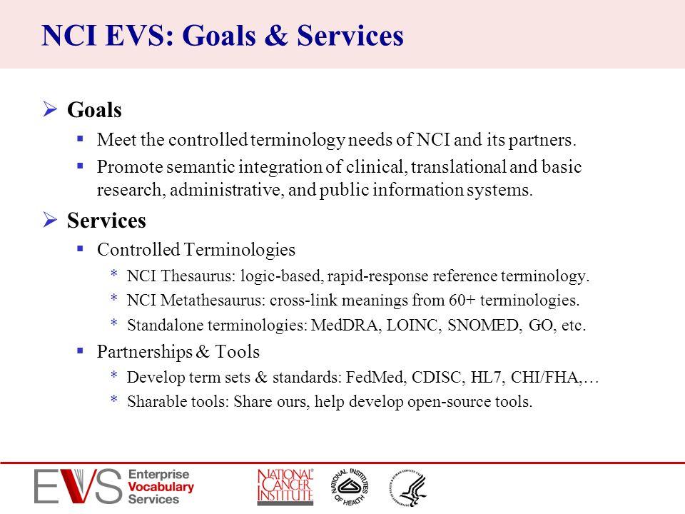 NCI EVS: Goals & Services
