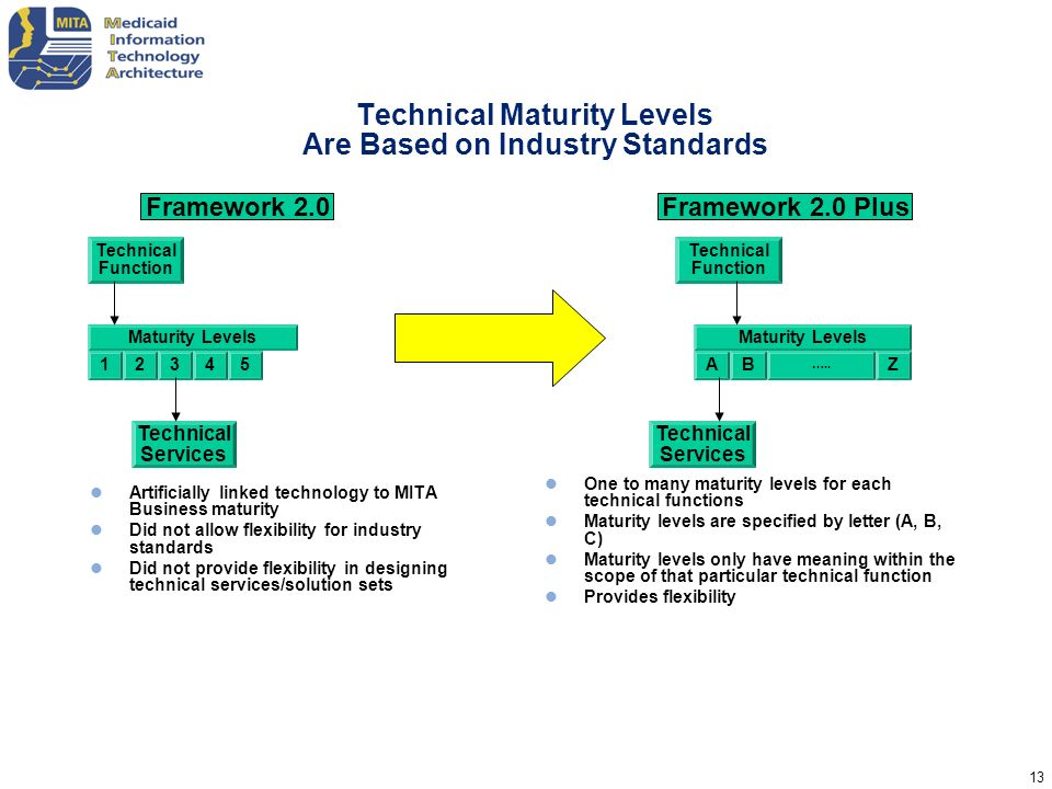 Technical Maturity Levels Are Based on Industry Standards