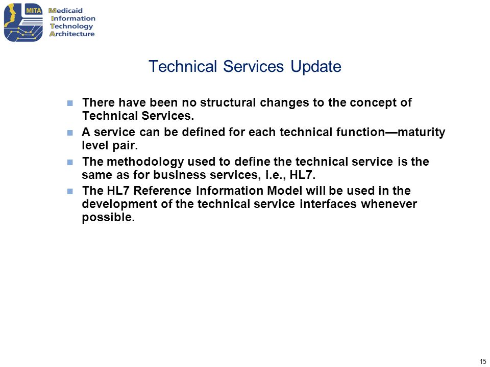 Technical Services Update