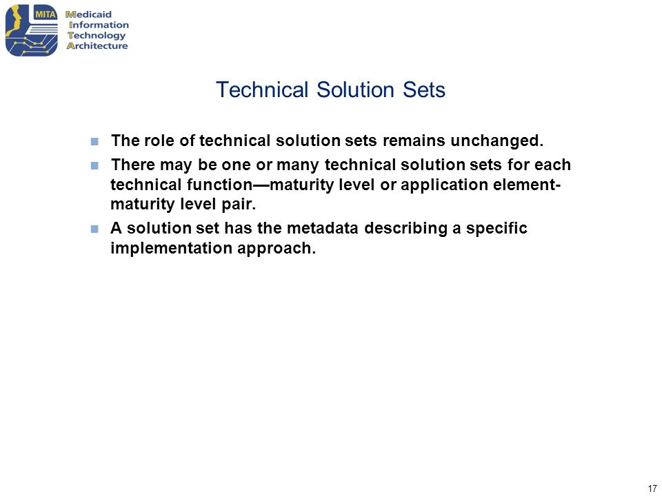 Technical Solution Sets
