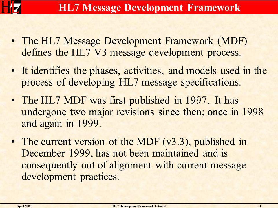 HL7 Message Development Framework