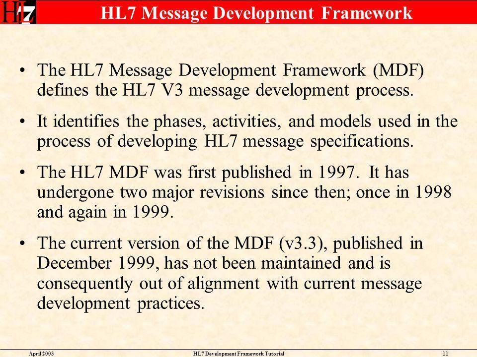 HL7 Message Development Framework