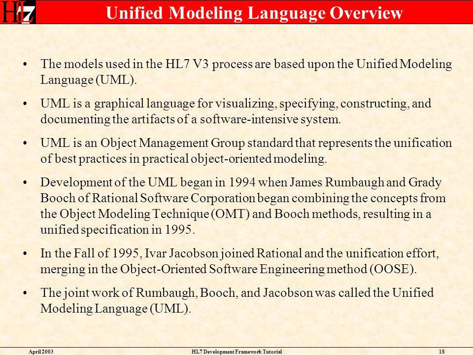Unified Modeling Language Overview