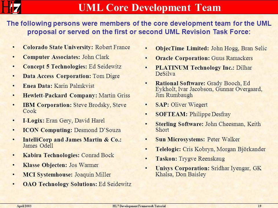 UML Core Development Team
