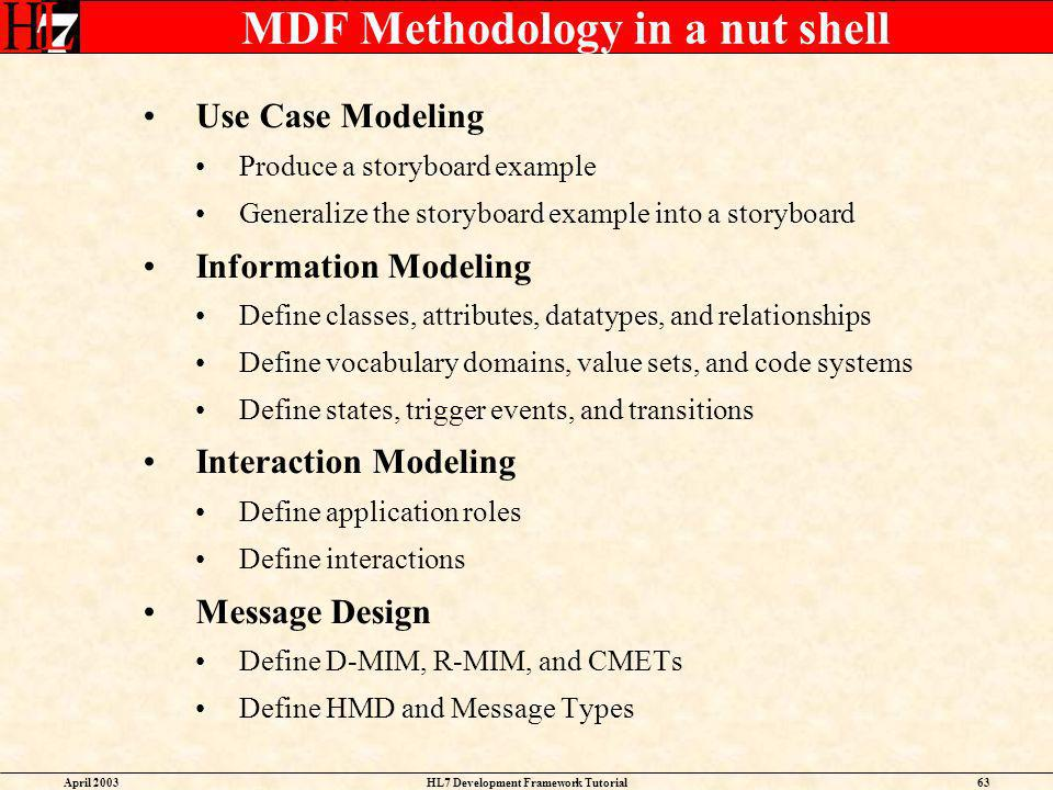 MDF Methodology in a nut shell
