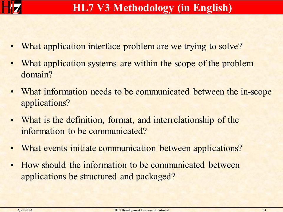 HL7 V3 Methodology (in English)