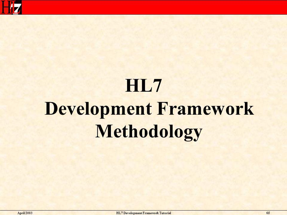 HL7 Development Framework Methodology