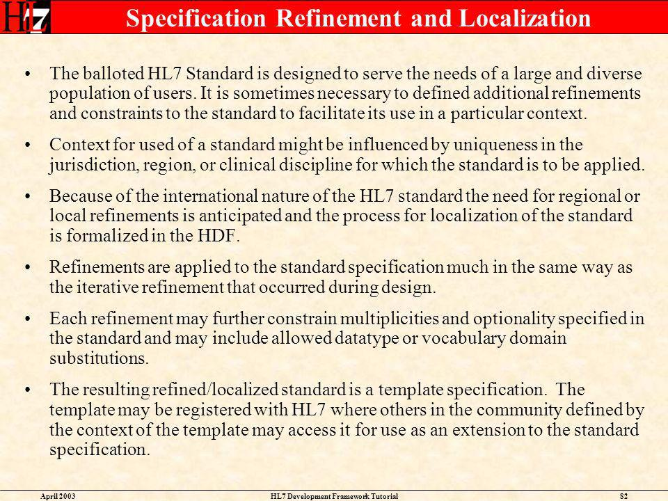 Specification Refinement and Localization