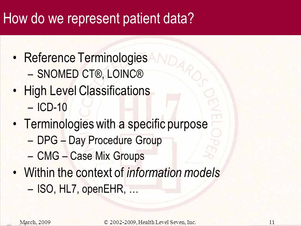 How do we represent patient data