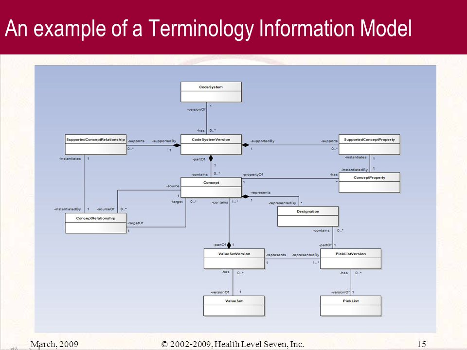 An example of a Terminology Information Model