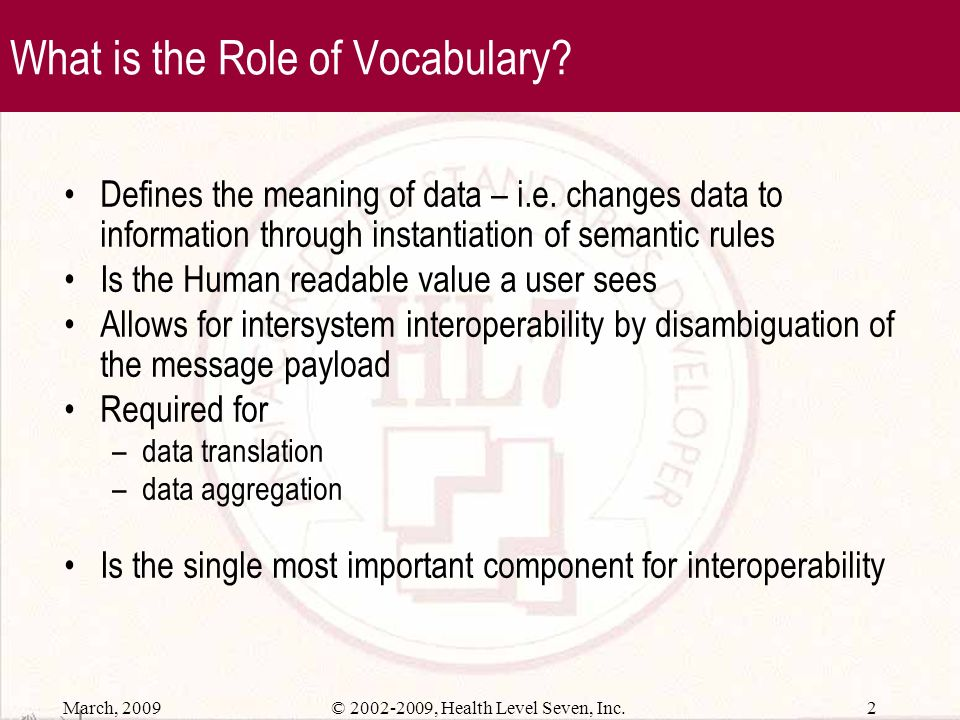 What is the Role of Vocabulary