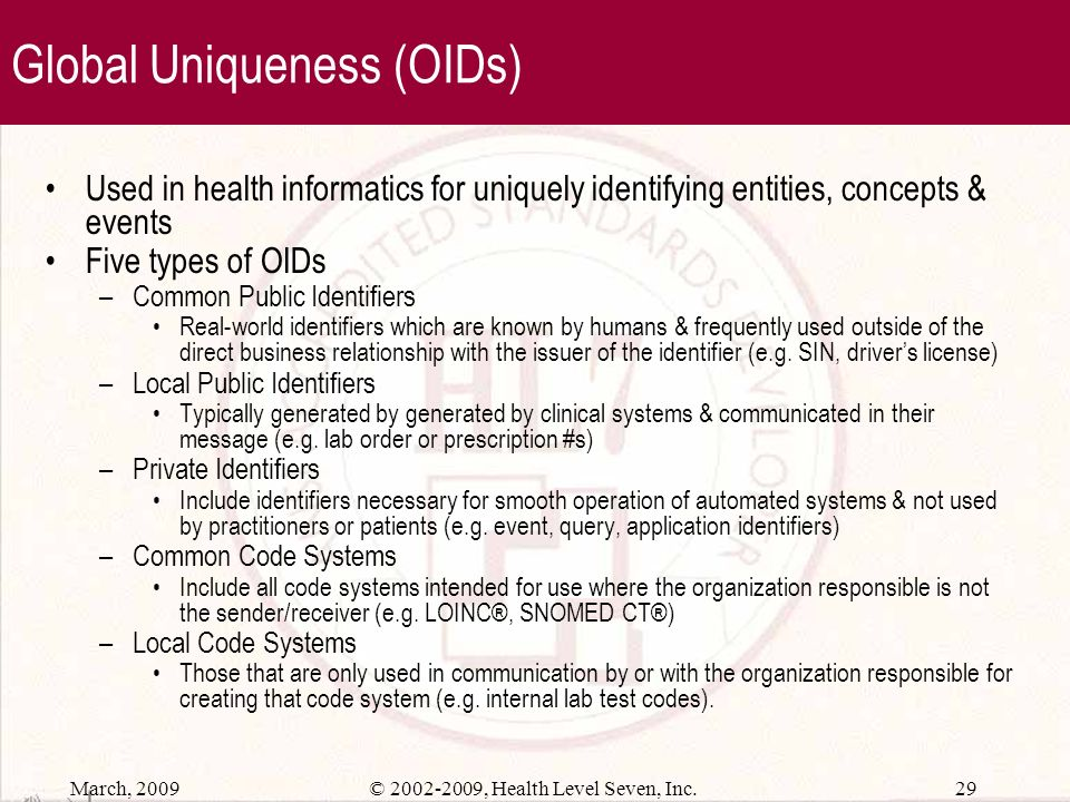 Global Uniqueness (OIDs)