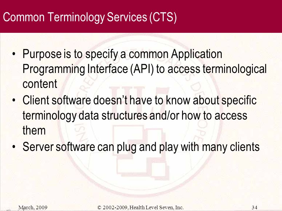Common Terminology Services (CTS)