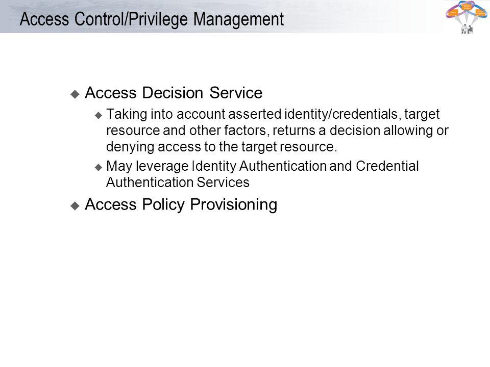 Access Control/Privilege Management
