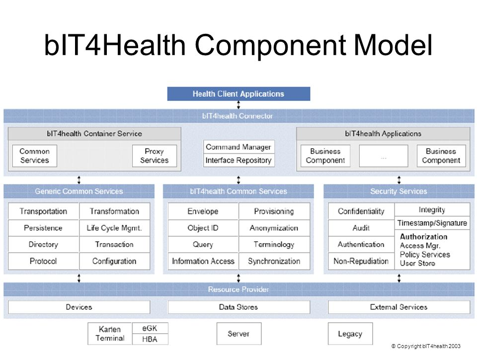 bIT4Health Component Model