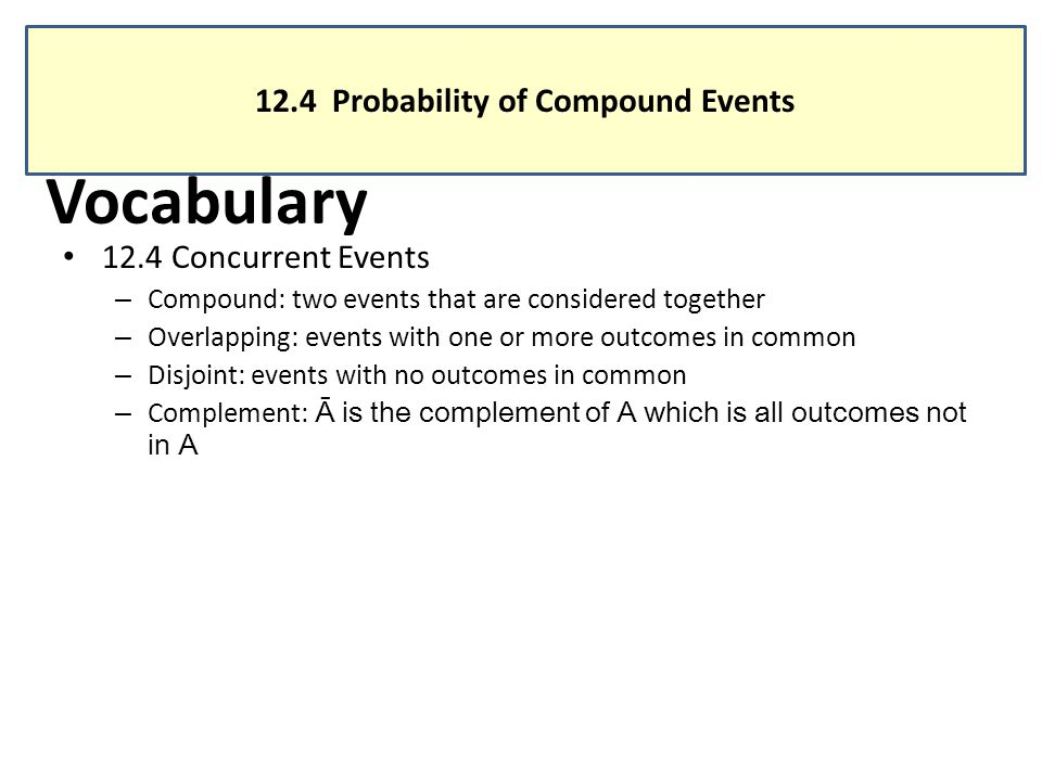 124 Probability of Compound Events ppt video online download – Compound Events Probability Worksheet