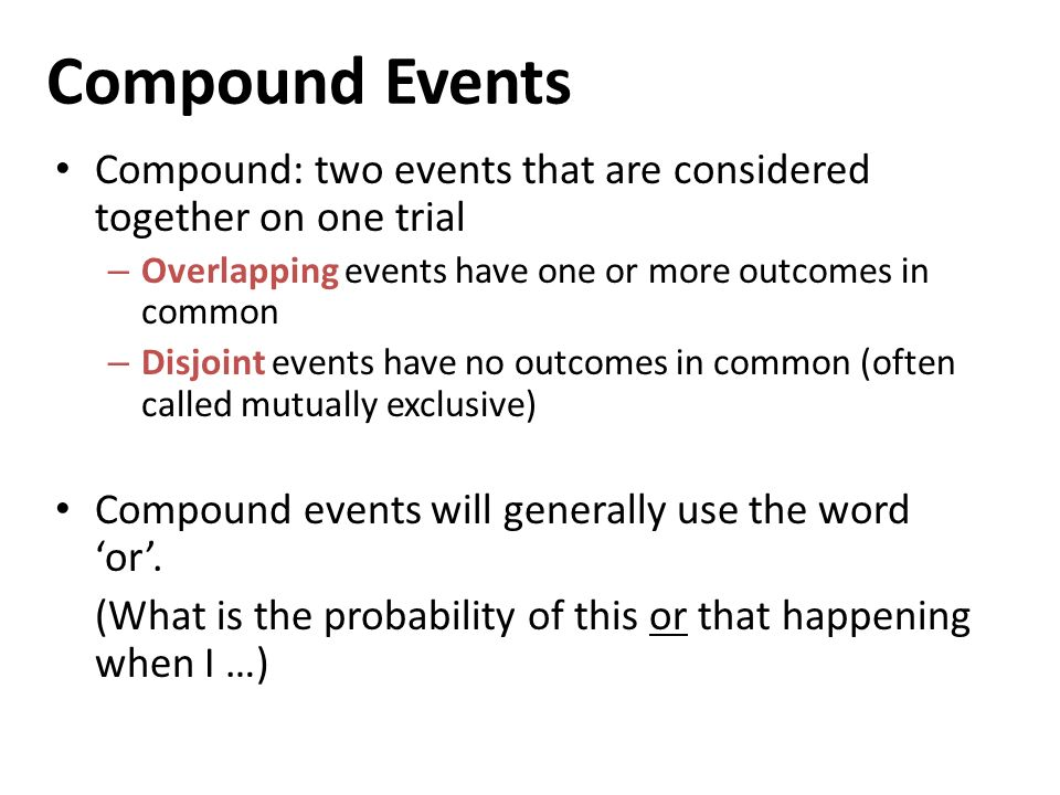 124 Probability of Compound Events ppt video online download – Compound Probability Worksheet