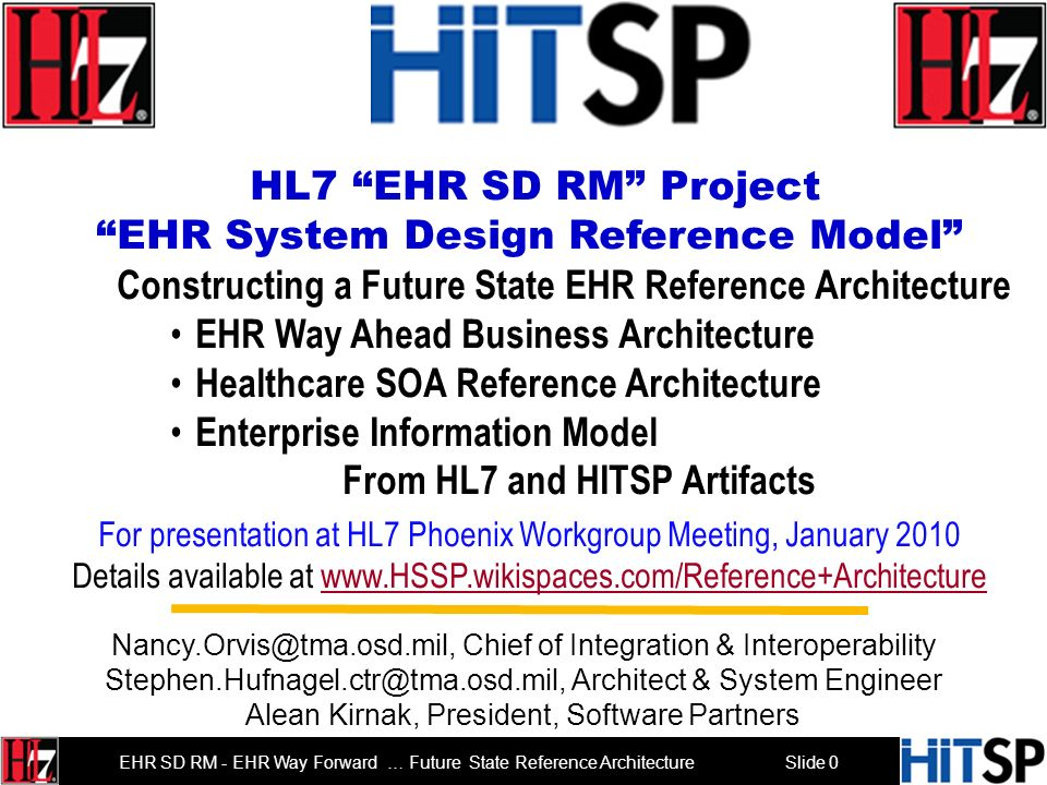 From HL7 and HITSP Artifacts