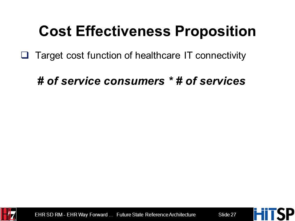 Cost Effectiveness Proposition