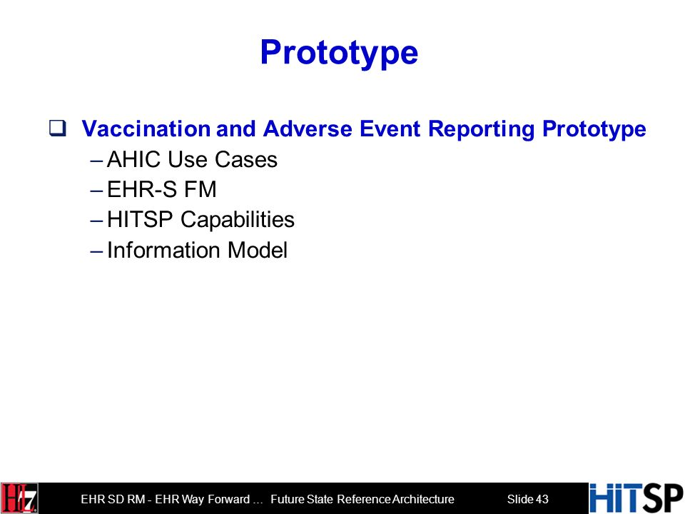 Prototype Vaccination and Adverse Event Reporting Prototype