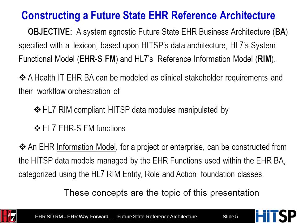 Constructing a Future State EHR Reference Architecture