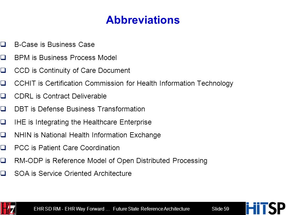Abbreviations B-Case is Business Case BPM is Business Process Model