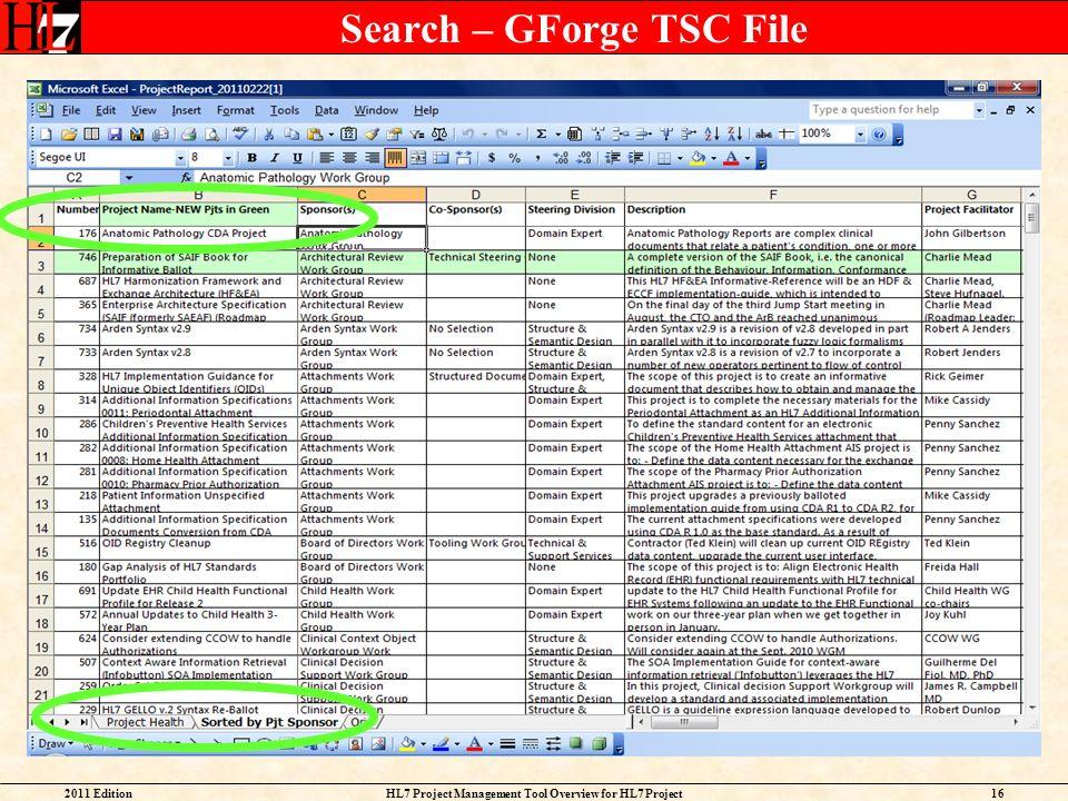 Search – GForge TSC File