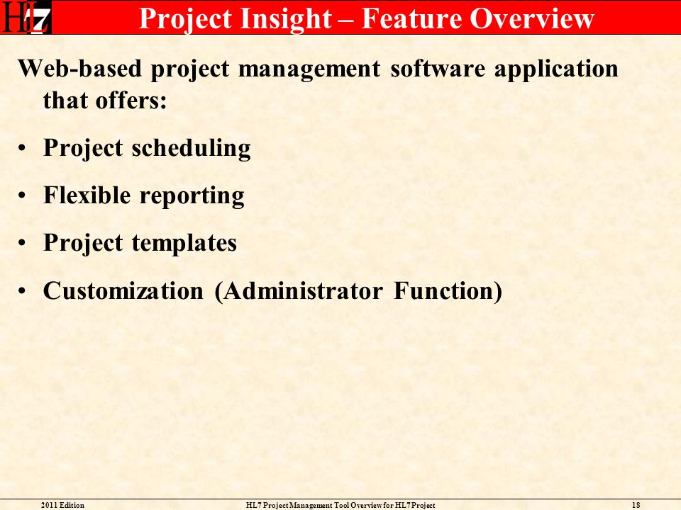 Project Insight – Feature Overview
