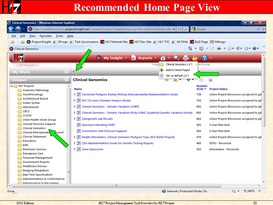 Recommended Home Page View
