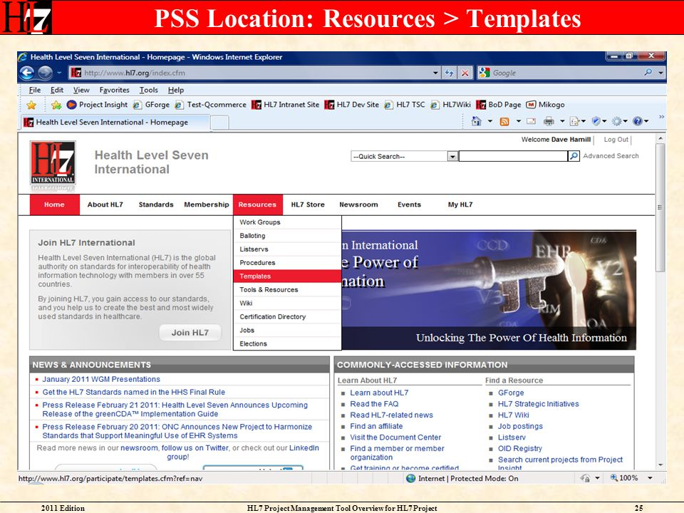 PSS Location: Resources > Templates