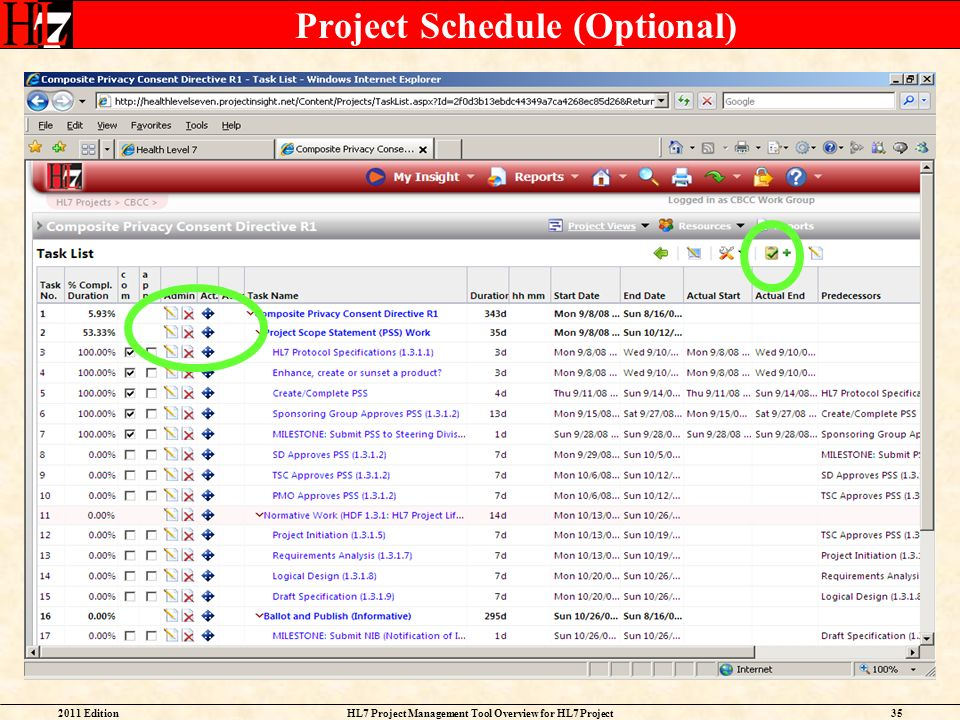 Project Schedule (Optional)
