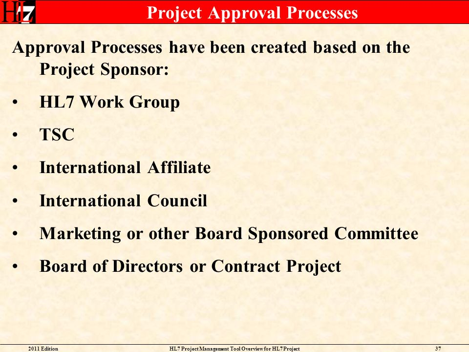Project Approval Processes