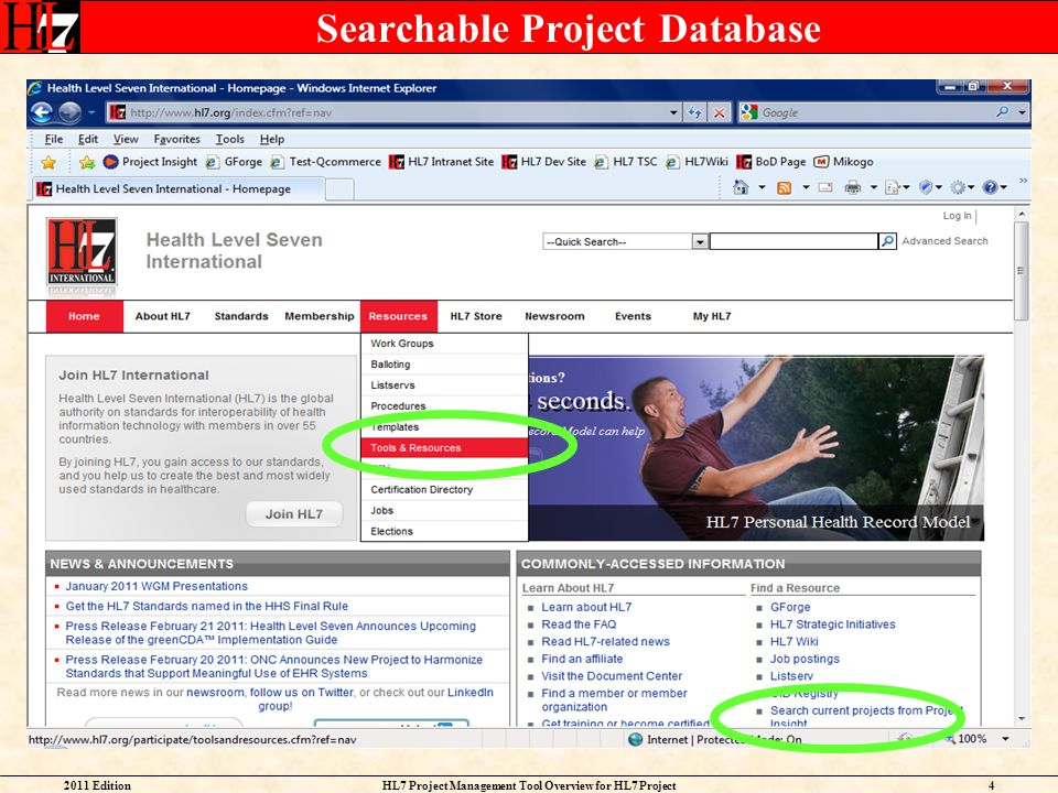 Searchable Project Database