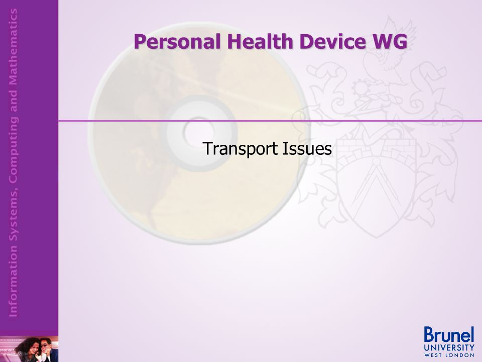 Personal Health Device WG