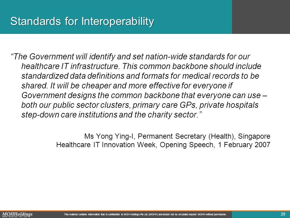 Standards for Interoperability