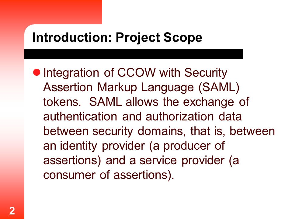 Introduction: Project Scope