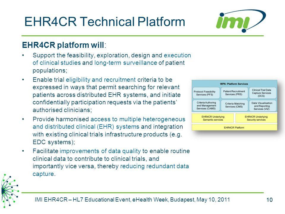 EHR4CR Technical Platform