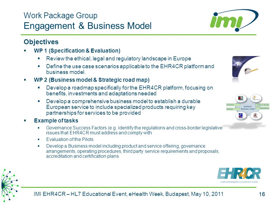 Work Package Group Engagement & Business Model