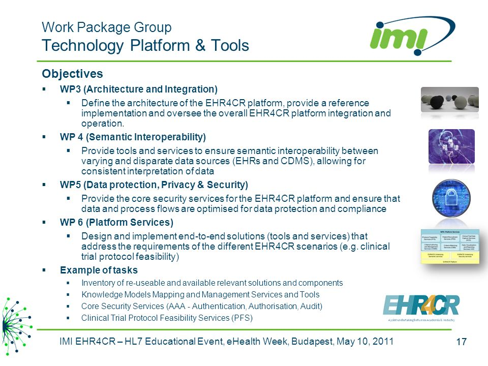 Work Package Group Technology Platform & Tools