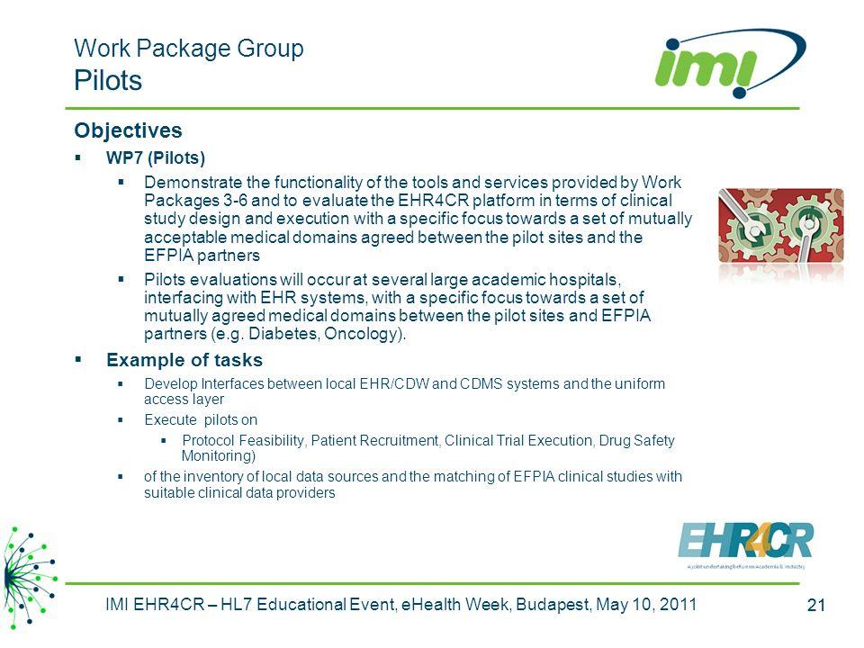 Work Package Group Pilots