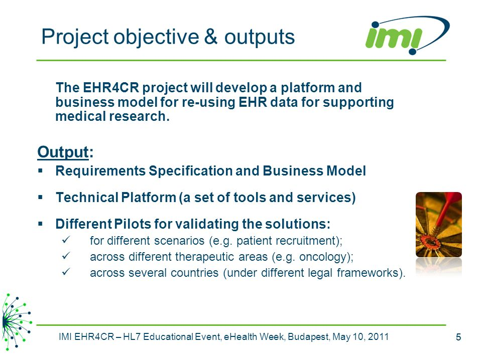 Project objective & outputs