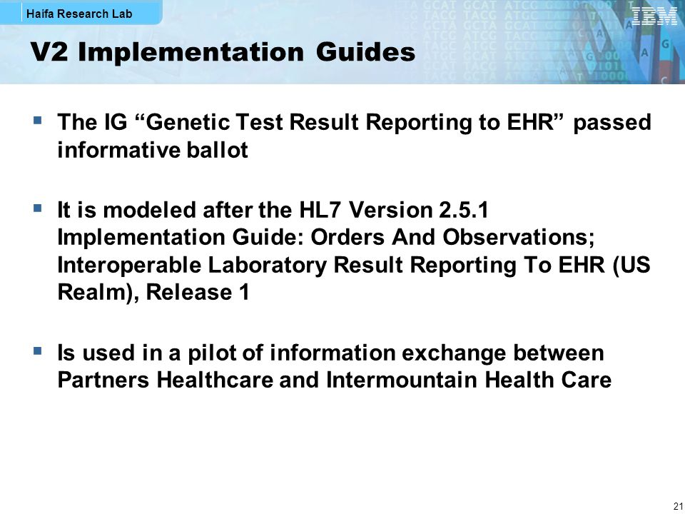 V2 Implementation Guides