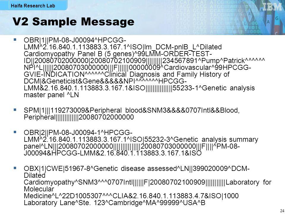 V2 Sample Message