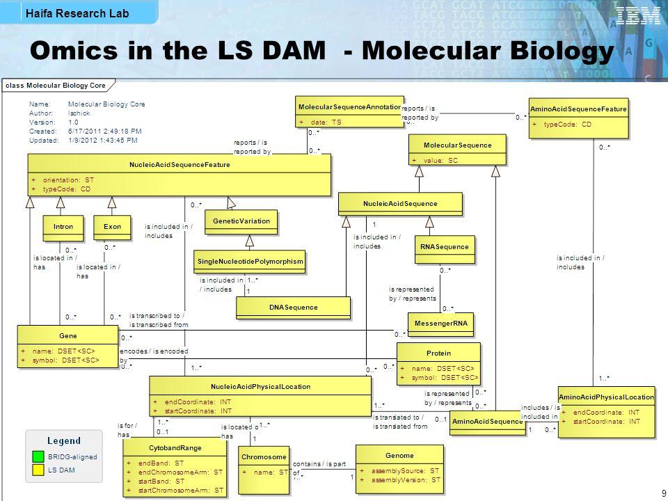 Omics in the LS DAM - Molecular Biology