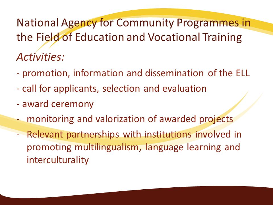 National Agency for Community Programmes in the Field of Education and Vocational Training