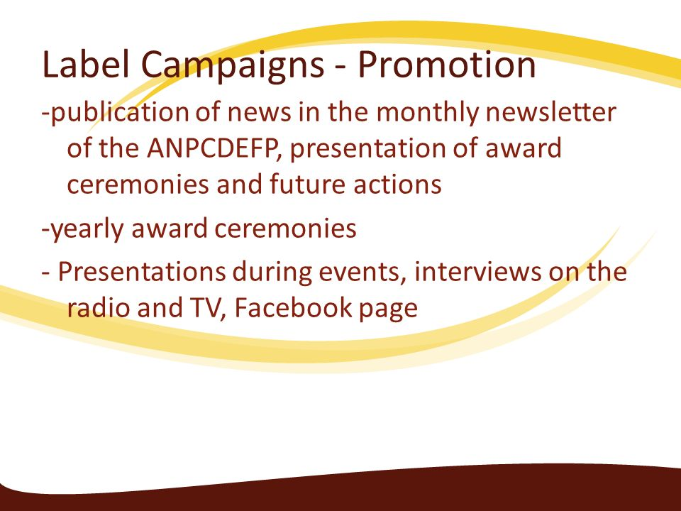 Label Campaigns - Promotion