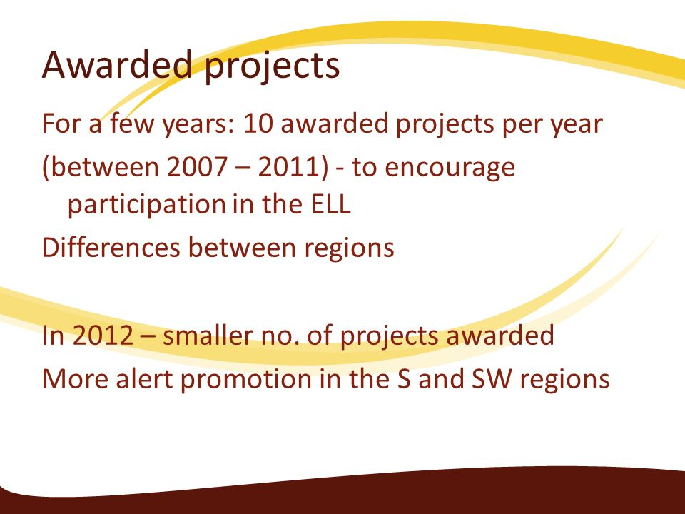 Awarded projects