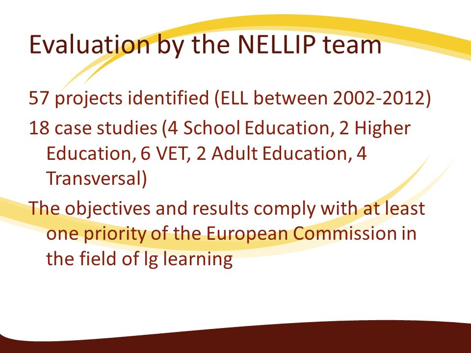 Evaluation by the NELLIP team