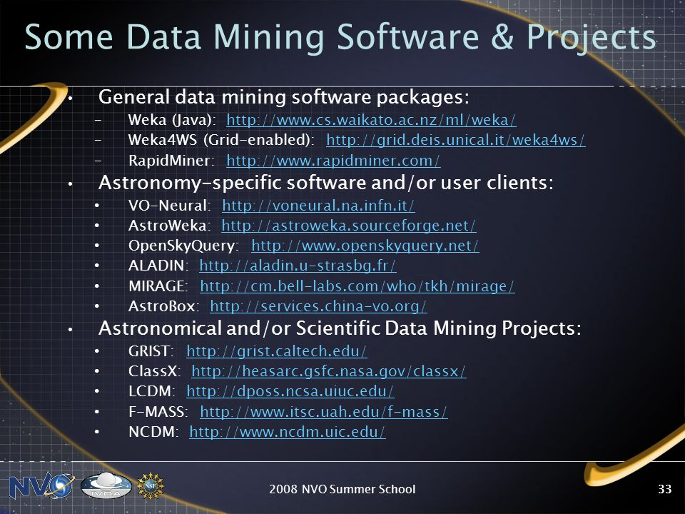 Some Data Mining Software & Projects