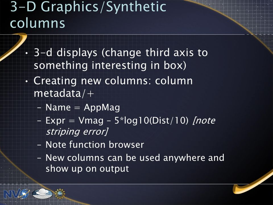 3-D Graphics/Synthetic columns